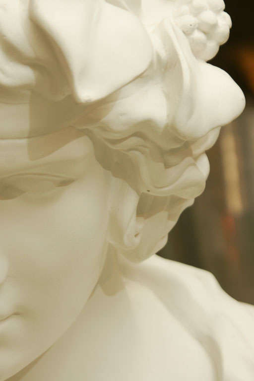White Chalk Plaster Classical Bust 5