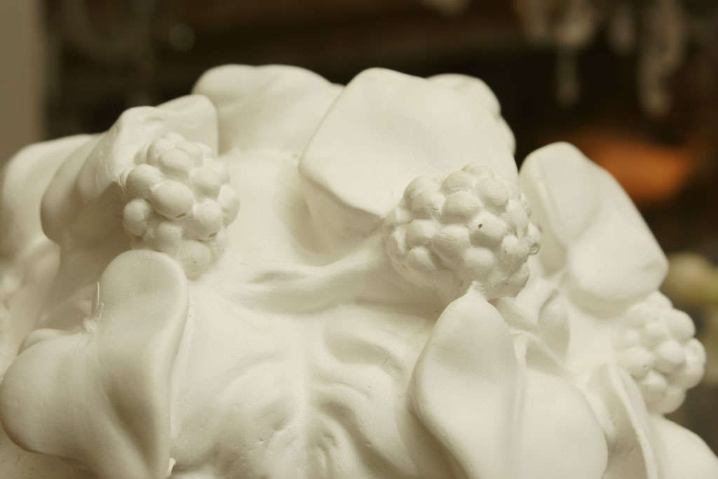 White Chalk Plaster Classical Bust 6