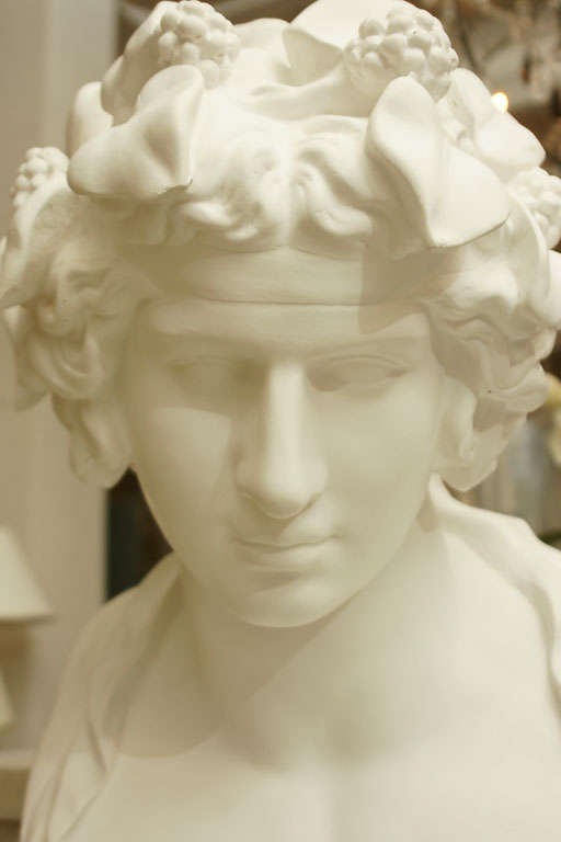 White Chalk Plaster Classical Bust 7