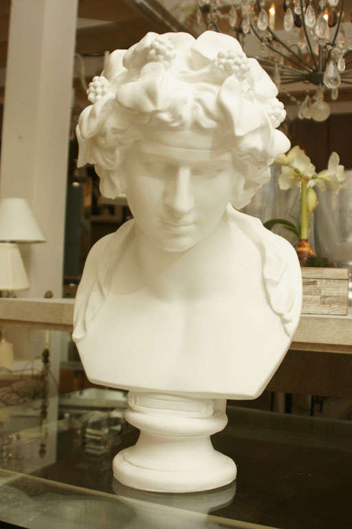 White Chalk Plaster Classical Bust 2