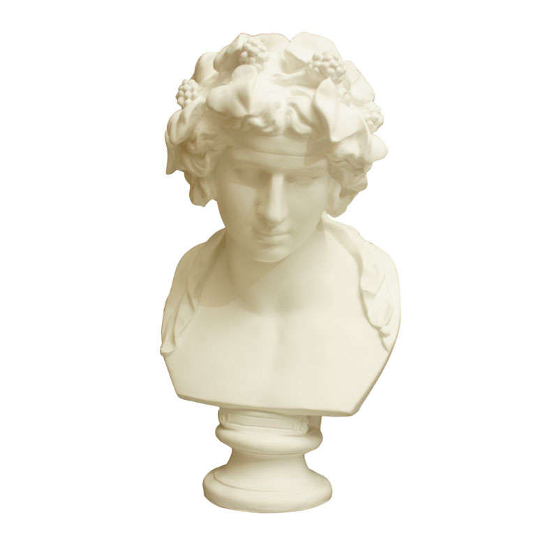 White Chalk Plaster Classical Bust 1