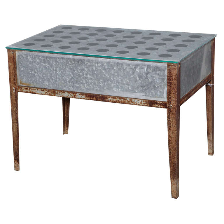 Repurposed Zinc Table At 1stdibs