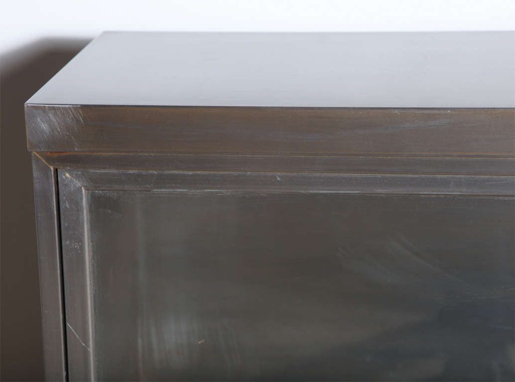 American pair of Steel Barrister Bookcases For Sale
