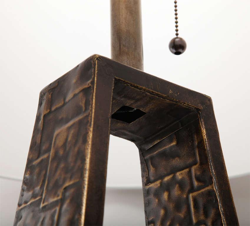 Fantoni Table lamp Brutalist Mid Century Modern brass Italy 1960's For Sale 1