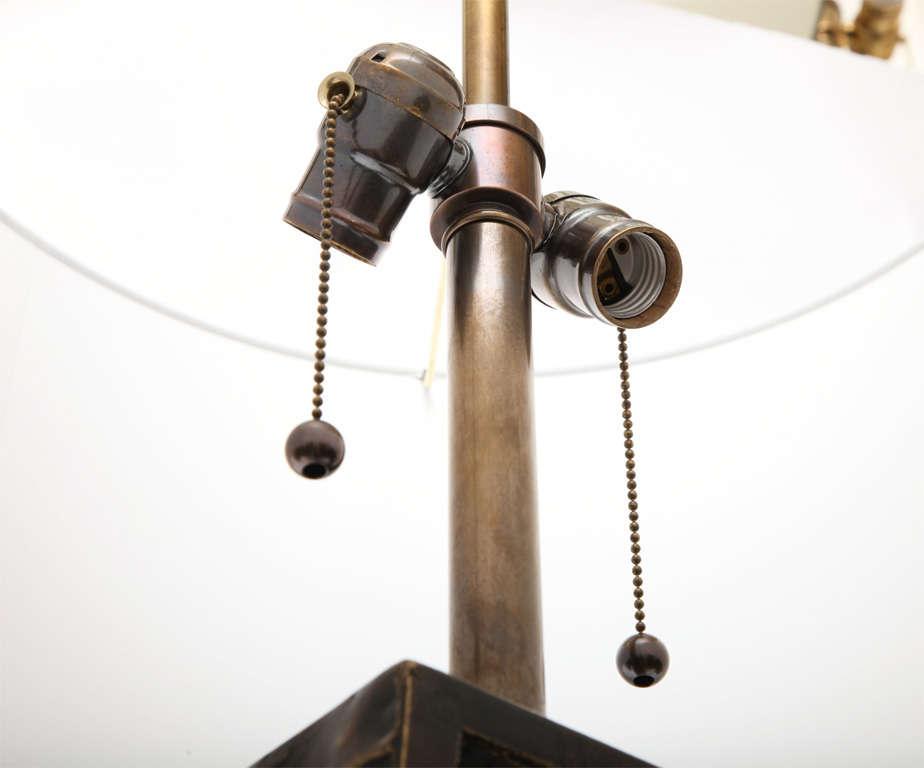 Fantoni Table lamp Brutalist Mid Century Modern brass Italy 1960's For Sale 3