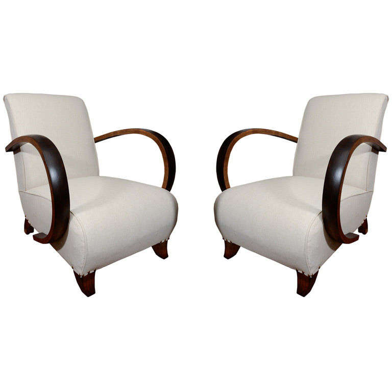 French Pair of Hoop Arm Chairs
