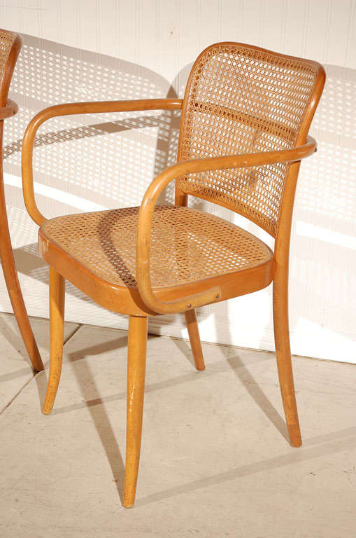 "Pr. of Stendig ""Prague"" bentwood armchairs chairs, Josef Hoffman image 3"