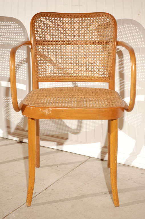 "Pr. of Stendig ""Prague"" bentwood armchairs chairs, Josef Hoffman image 4"