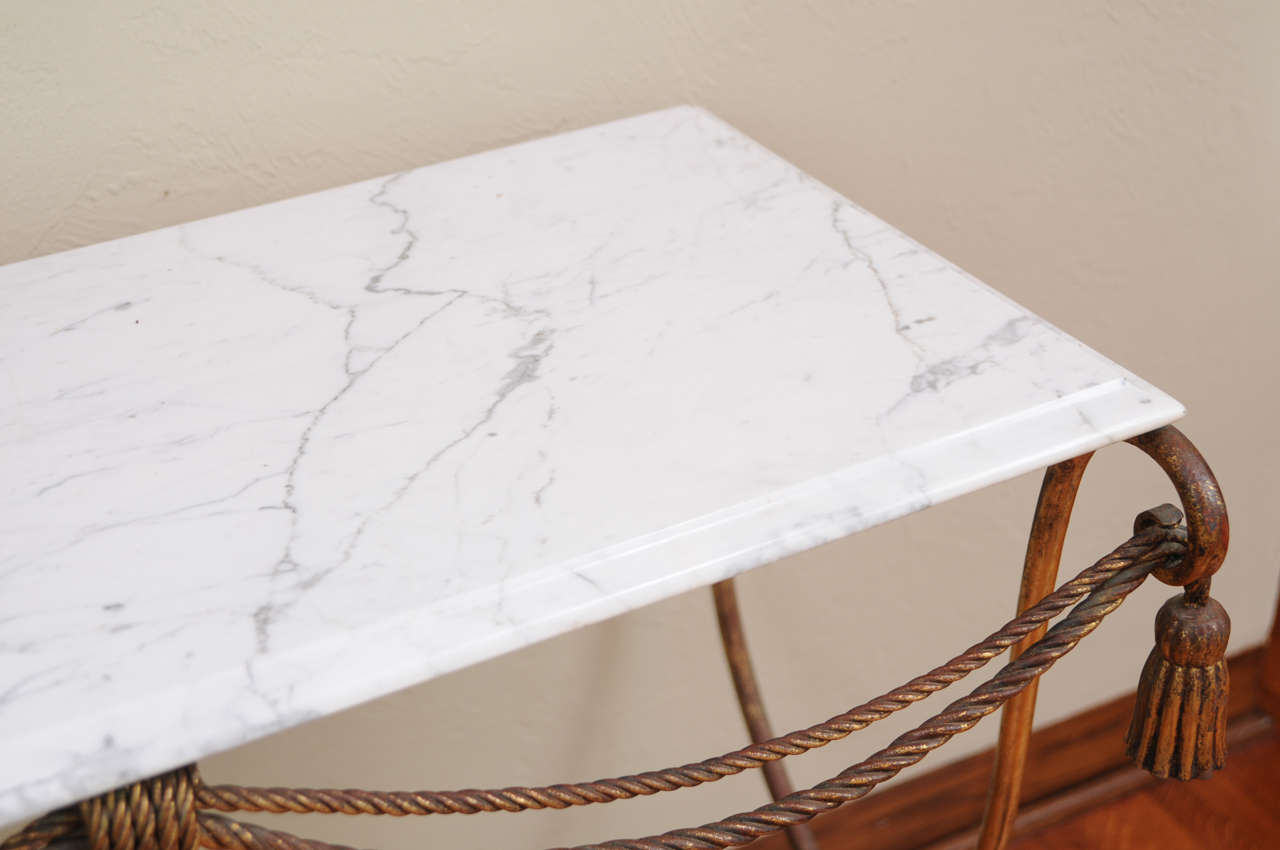 italian marble and gold gilt console table at 1stdibs