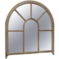 French Window Frame Palladium Painted Wood Mirror