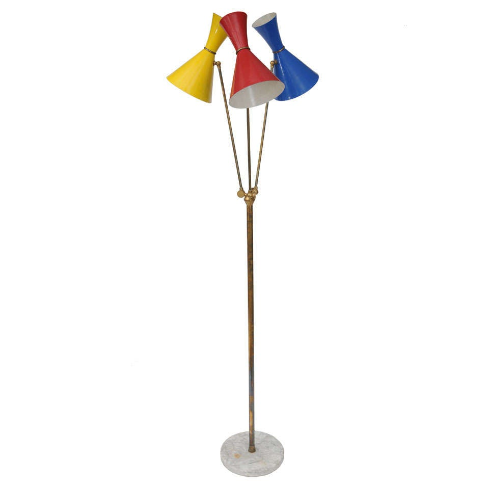 Stilnovo Three Shade Floor Lamp