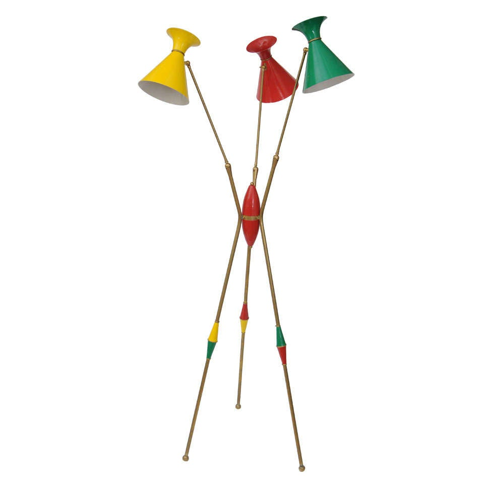 Unique and Original Stilnovo Floor Lamp
