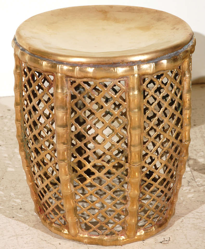 Assortment Of Vintage And Moroccan Brass Stools At 1stdibs