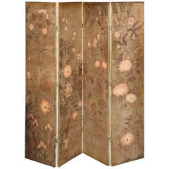 Max Kuehne 4-Panel Folding Screen