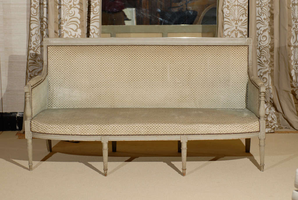 Directoire period canape in painted beechwood image 6 for Canape directoire