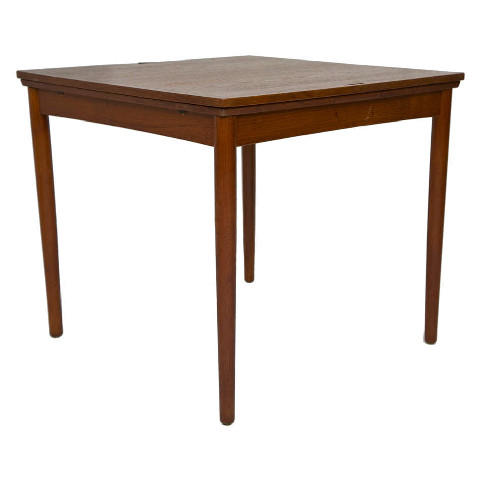 Danish teak convertable dining game table at 1stdibs for Dining room game table