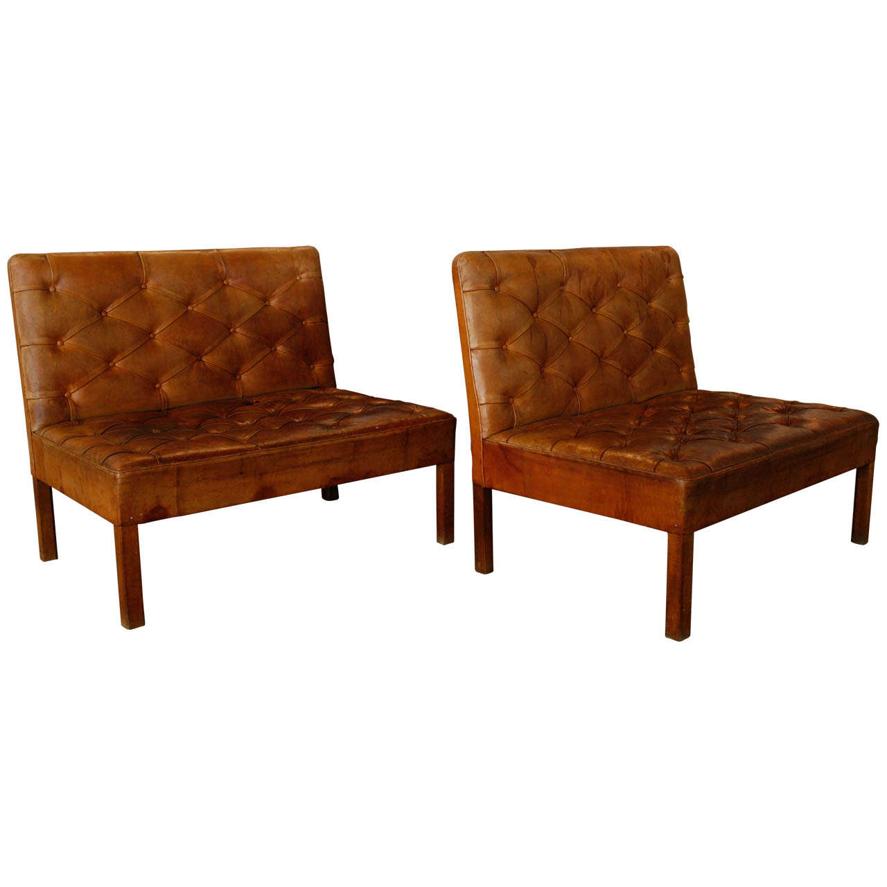 Pair of Kaare Klint Tufted Leather Settees Denmark 1930  : X from 1stdibs.com size 1280 x 1280 jpeg 72kB