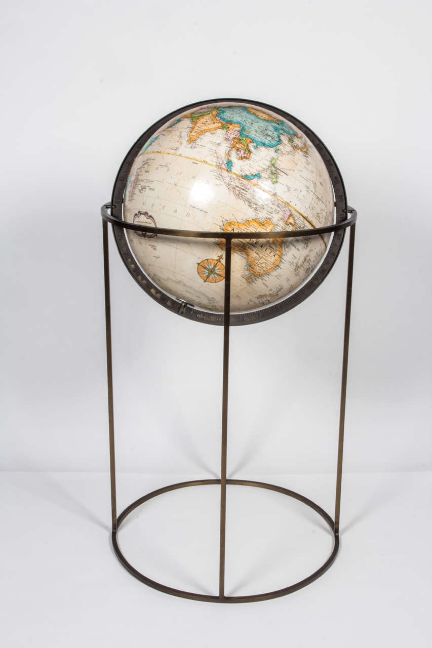 Paper World Globe in the Style of Paul McCobb For Sale