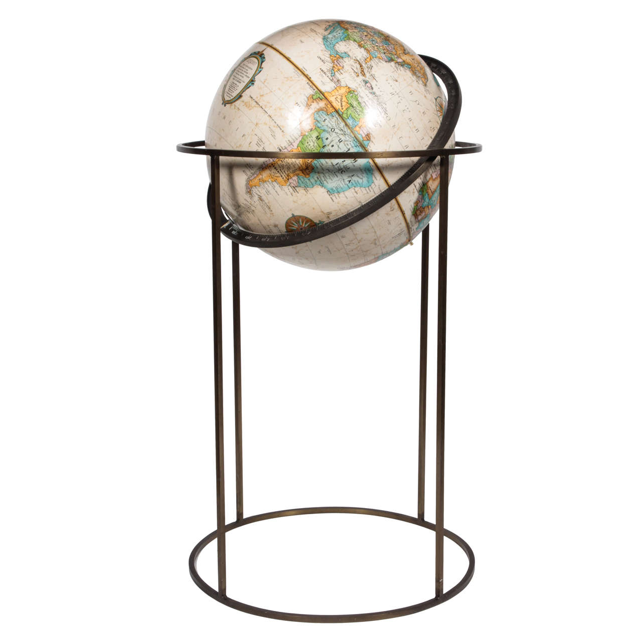 World Globe in the Style of Paul McCobb For Sale