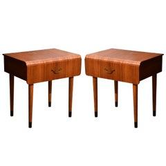 Pair of Midcentury Teak Side Tables in the Style of Severin Hansen Jr.