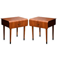 Pair of Mid-Century Teak Side Tables in the Style of Severin Hansen Jr.