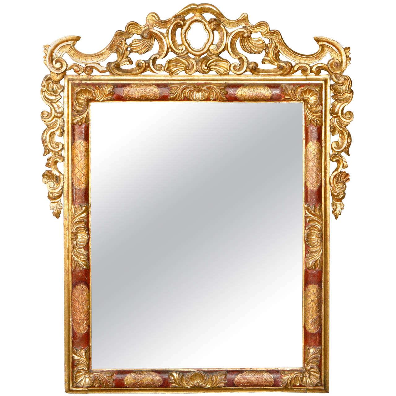 Early 19th Century Italian Giltwood Mirror