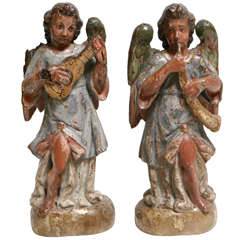18th Century Pair of Italian Angels