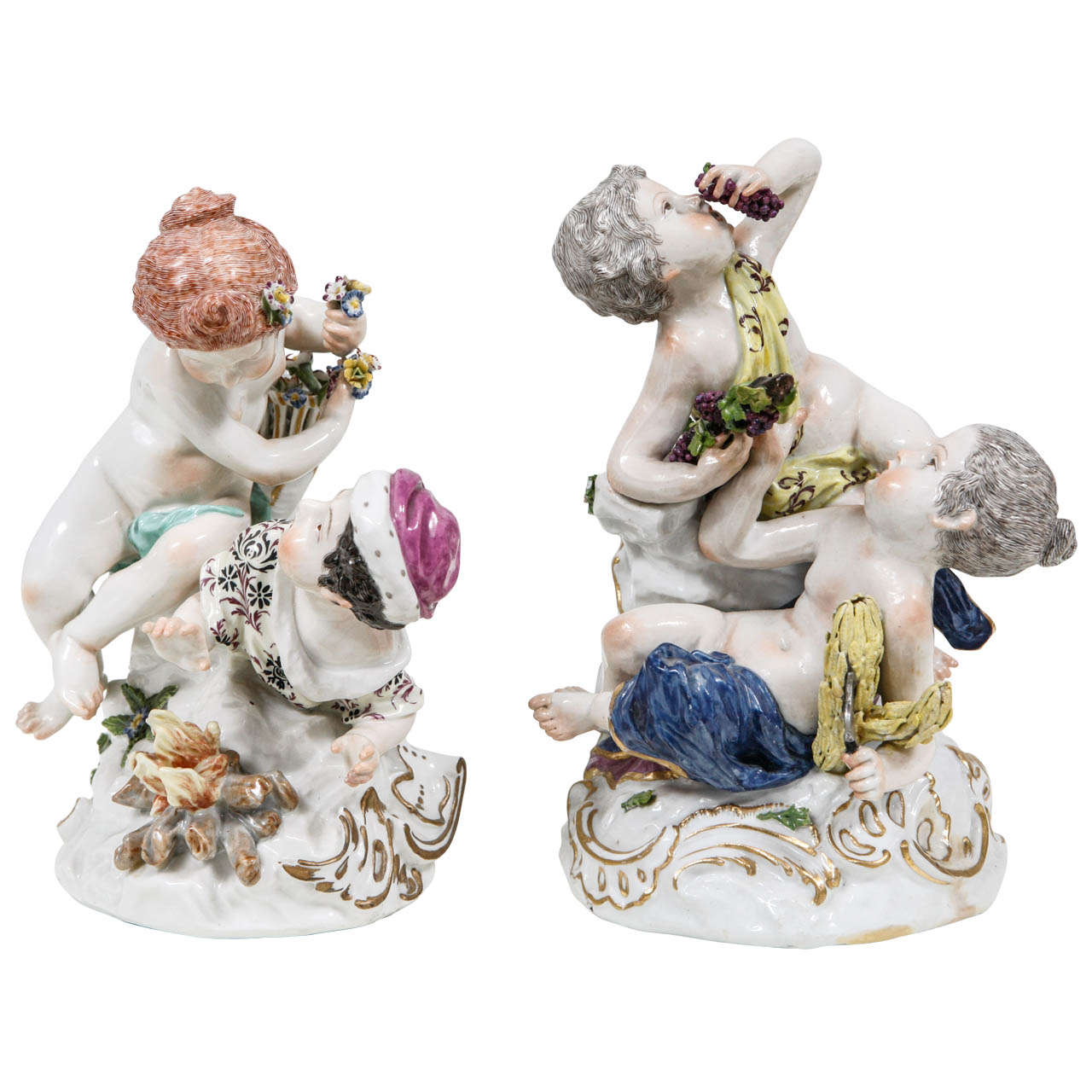 Pair of 19th Century French Porcelain Figures