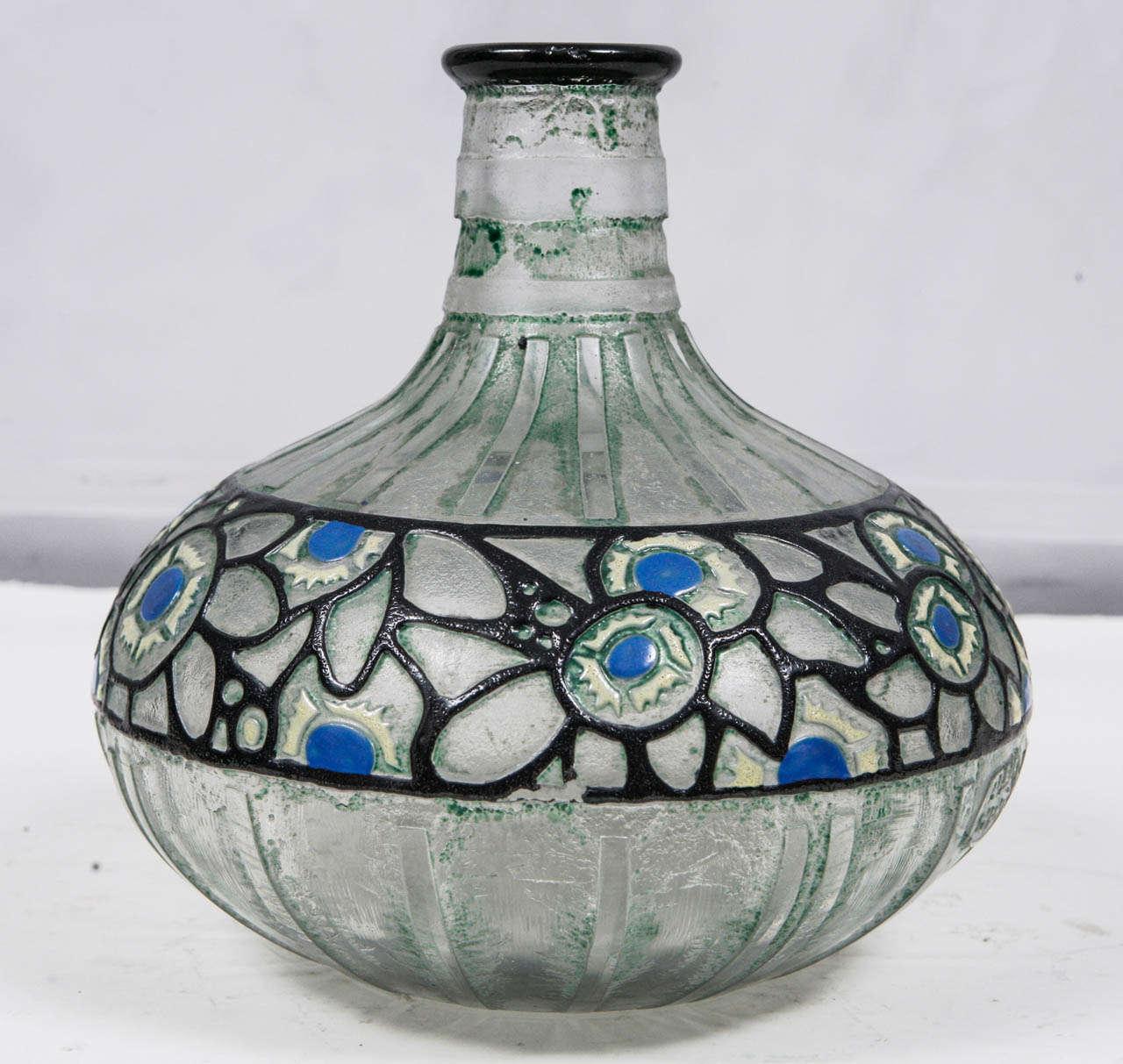 1920's French Delatte Acid Etched Vase