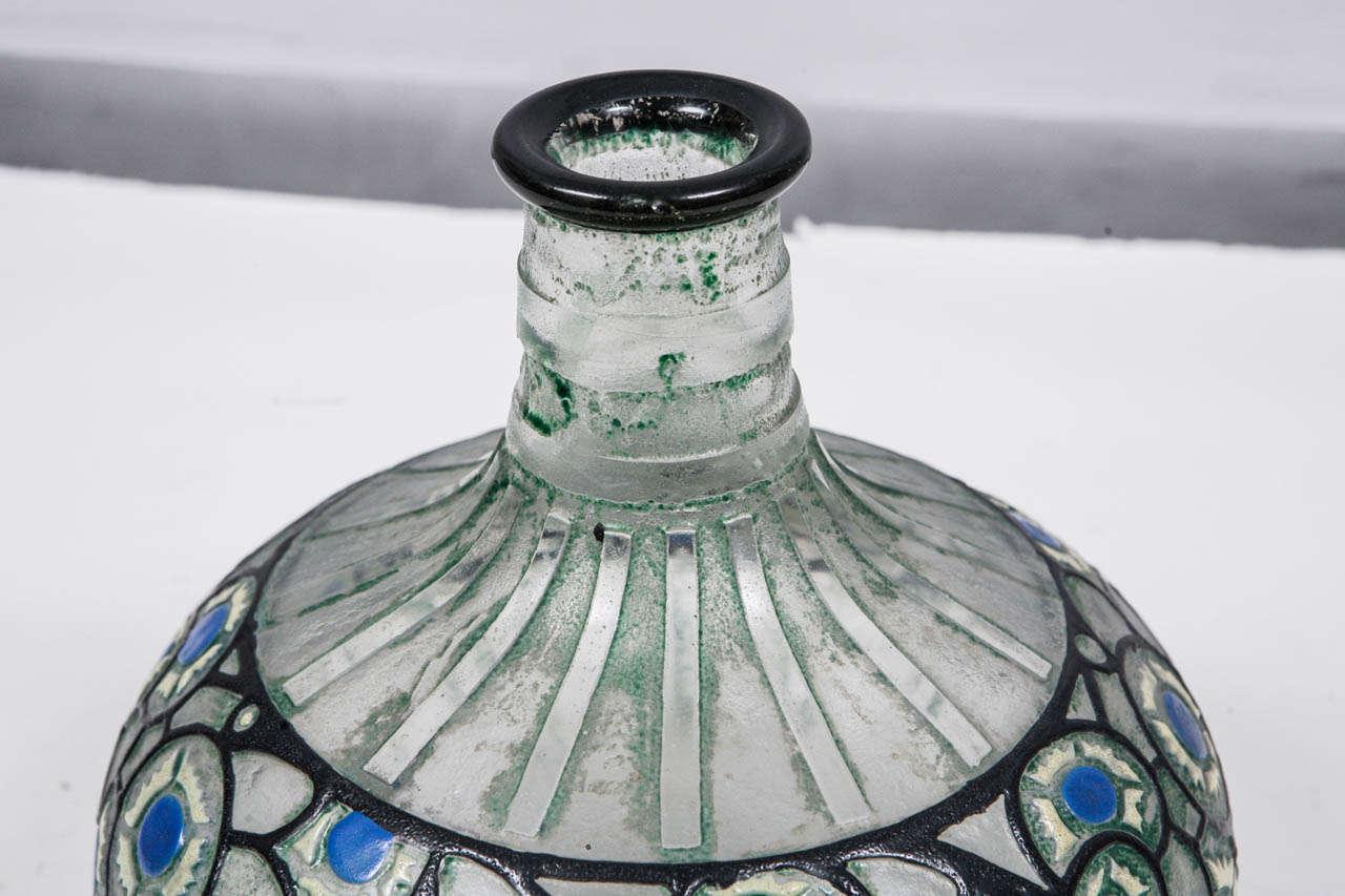 20th Century 1920's French Delatte Vase For Sale
