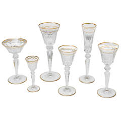 Saint-Louis set of 175 Cut Crystal Glasses