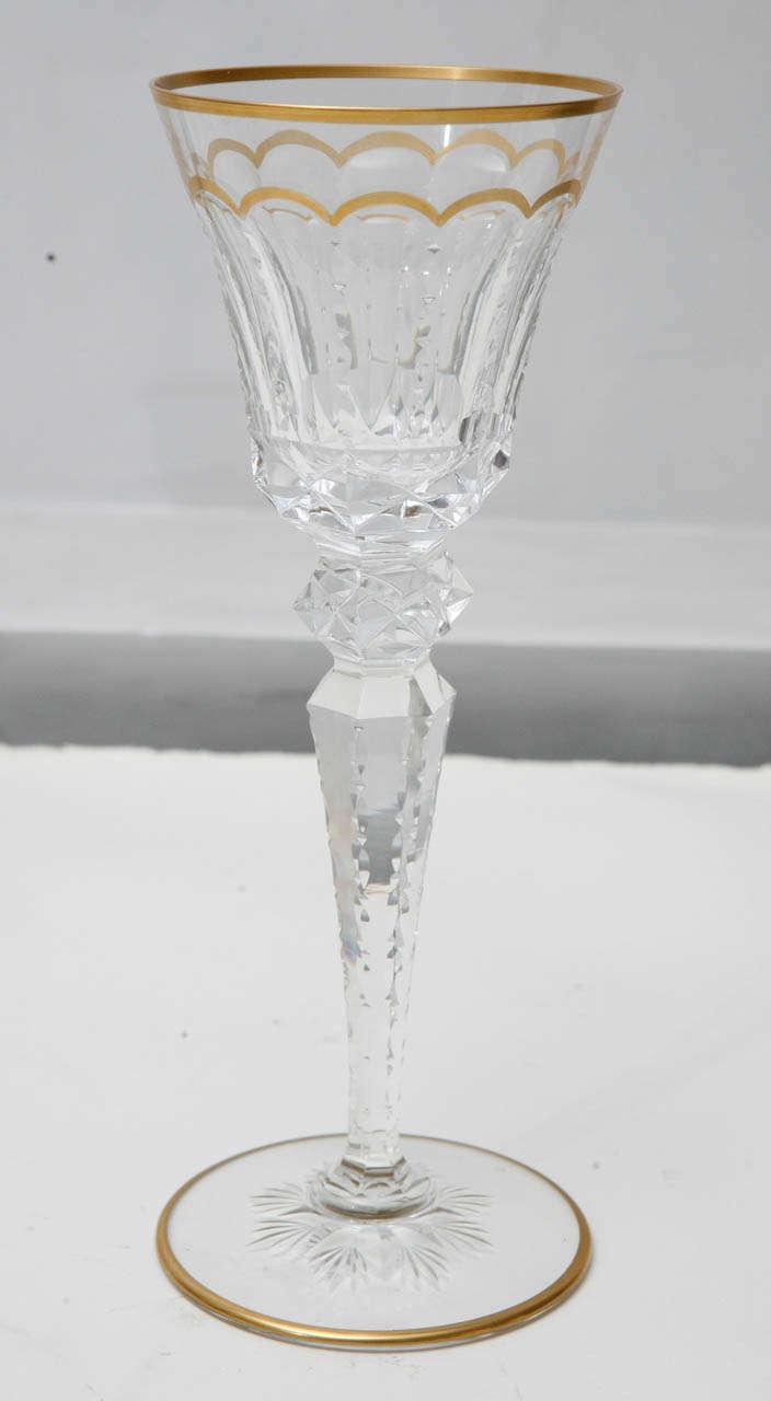 Contemporary Saint-Louis set of 175 Cut Crystal Glasses For Sale