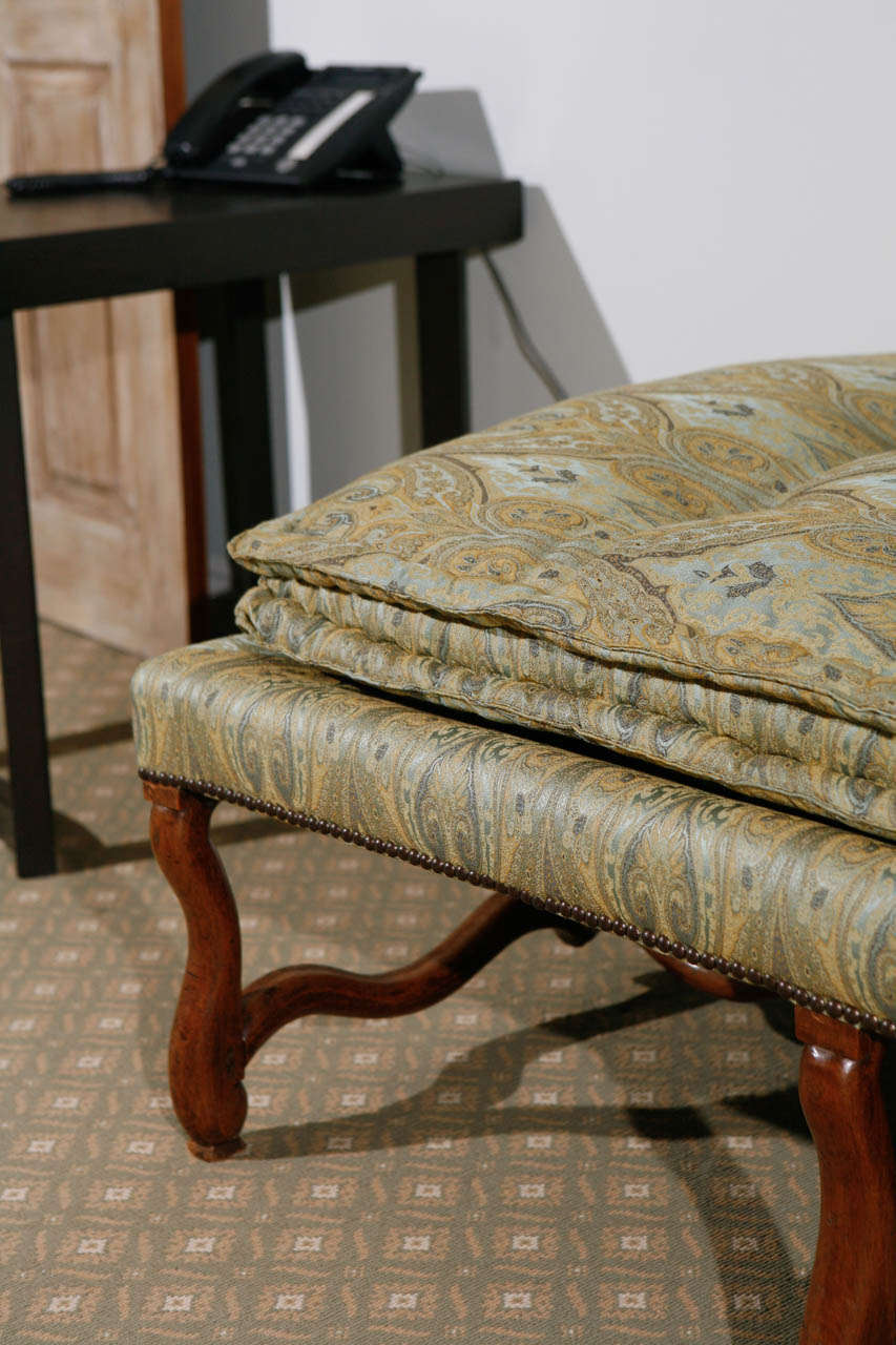 18th C French Walnut Os Du Mouton Chaise At 1stdibs