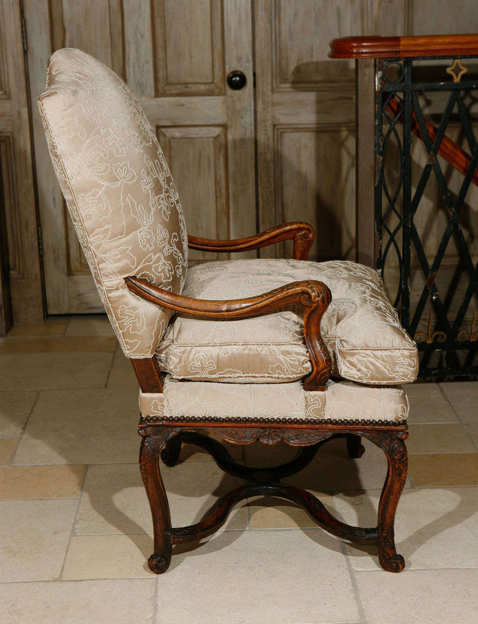 18th Century French Regence Single Walnut Armchair For ...