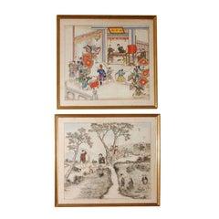 Pair of 19th Century Chinese Paintings