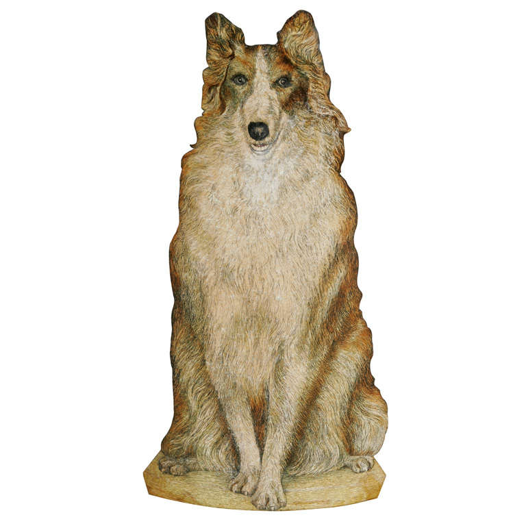 "Piero Fornasetti umbrella stand ""Collie"", Italy circa 1950"