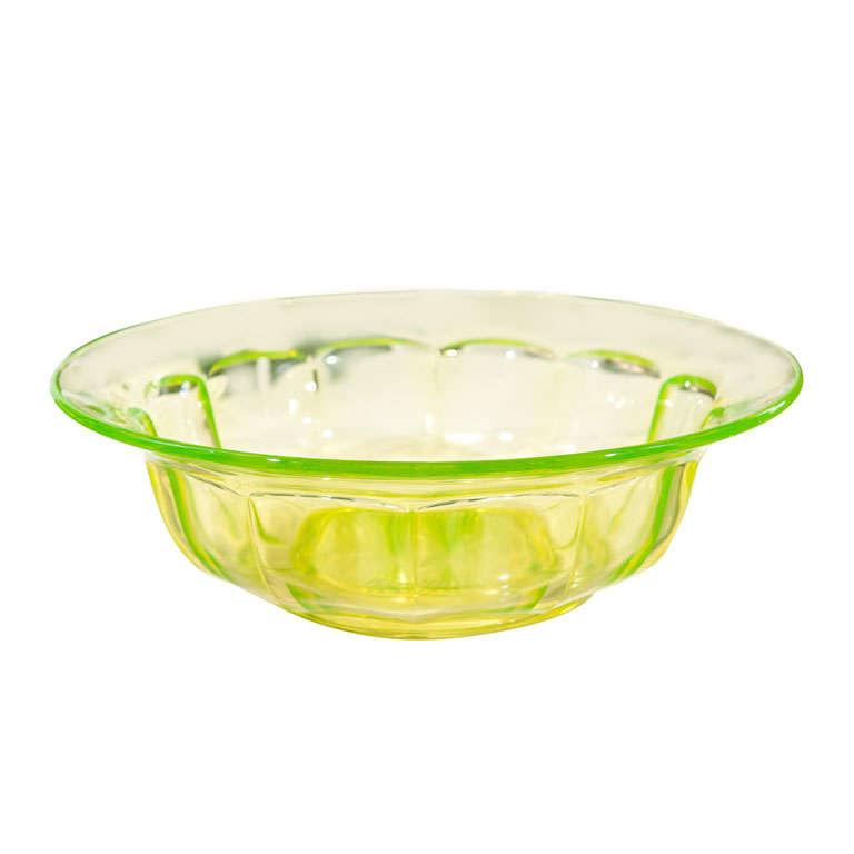 Uranium Glass Bowl At 1stdibs