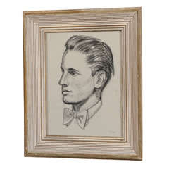 Clyde F. Seavey Graphite Study of a Young Man with Bow Tie