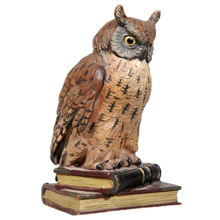 Finely Cast Cold Painted Vienna Bronze Owl At 1stdibs