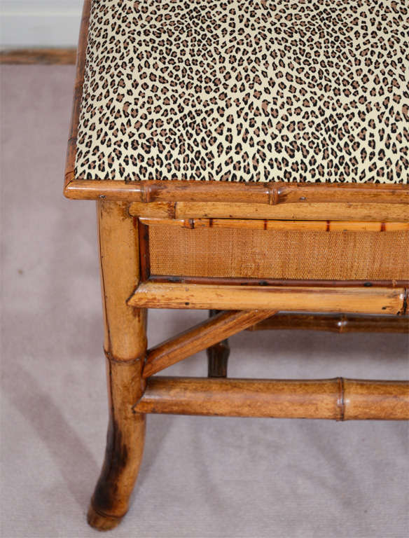 Turn of the Century Bamboo Bench with Storage 2