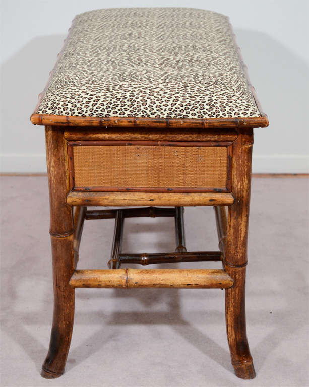 Turn of the Century Bamboo Bench with Storage 3