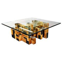 "Mid Century Paul Evans ""Cityscape"" Coffee Table"