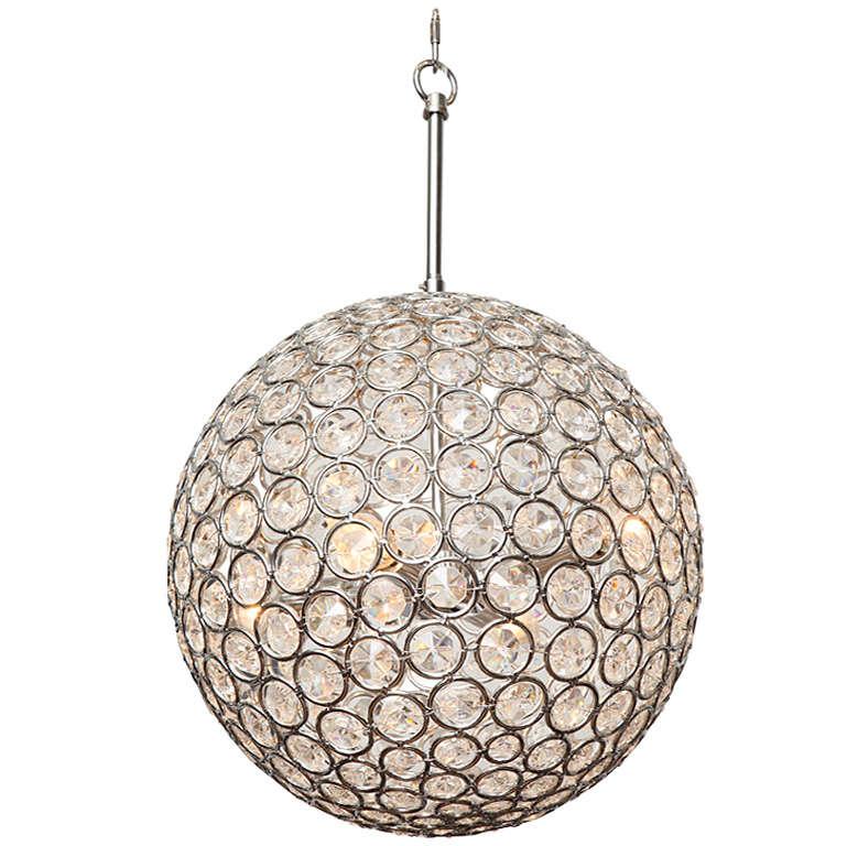 S Disco Ball Glass Pendant