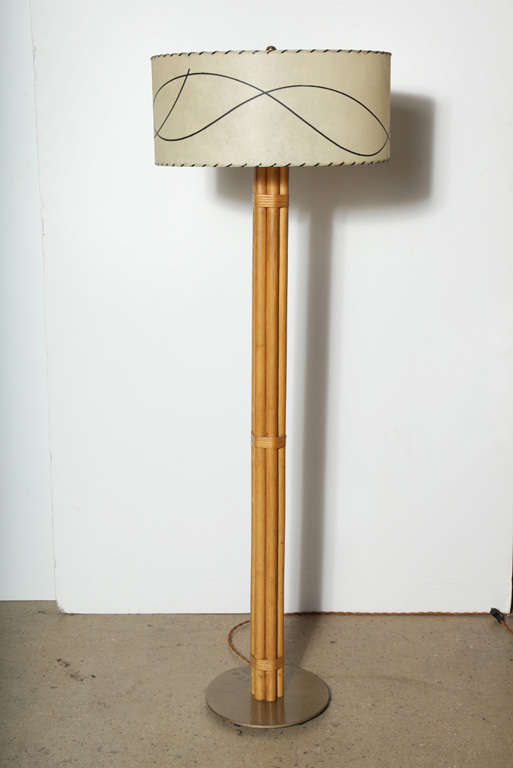 Russel Wright Bamboo Floor Lamp At 1stdibs