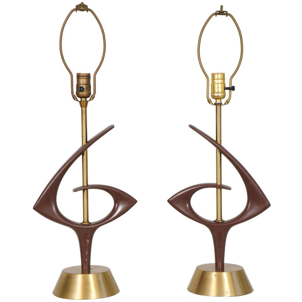 1960s Sculptural Rembrandt Lamps For Sale