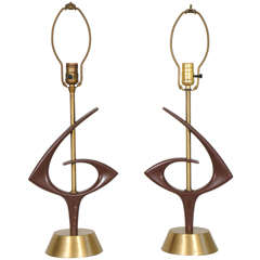1960s Sculptural Rembrandt Lamps