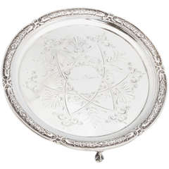 American Coin Silver Footed Salver