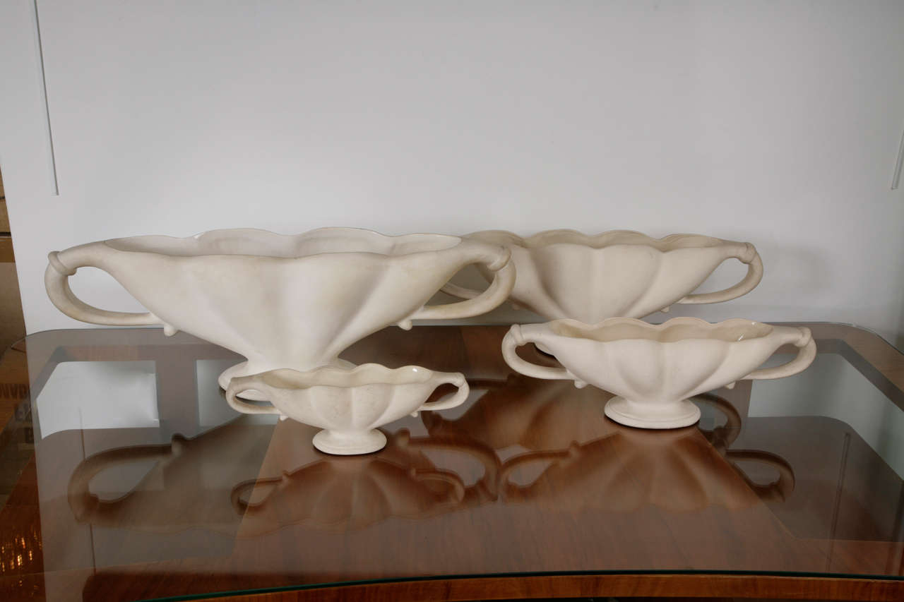 Fulham pottery urns at 1stdibs set of four unglazed fulham pottery urns designed by flower arrangement guru constance spry in the reviewsmspy