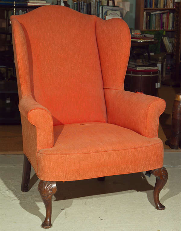 Large George III Style Wing Chair at 1stdibs