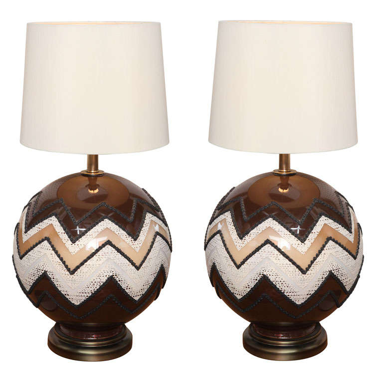 70s Glass Globe Table Lamps For Sale At 1stdibs